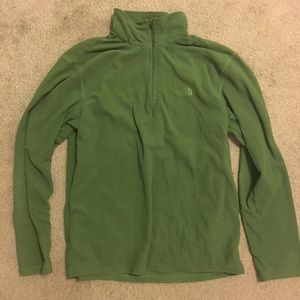 The North Face Half ZIP size medium Green
